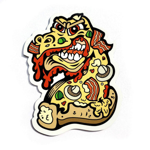 Pizzamonster Sticker