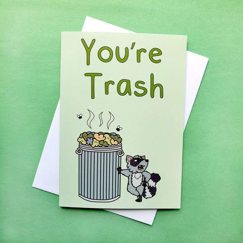 """Trash"" Greeting Card - Kolorspun Enamel Pins"