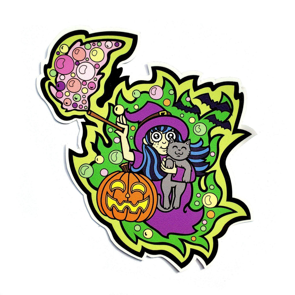 Witch Sticker - Kolorspun Enamel Pins