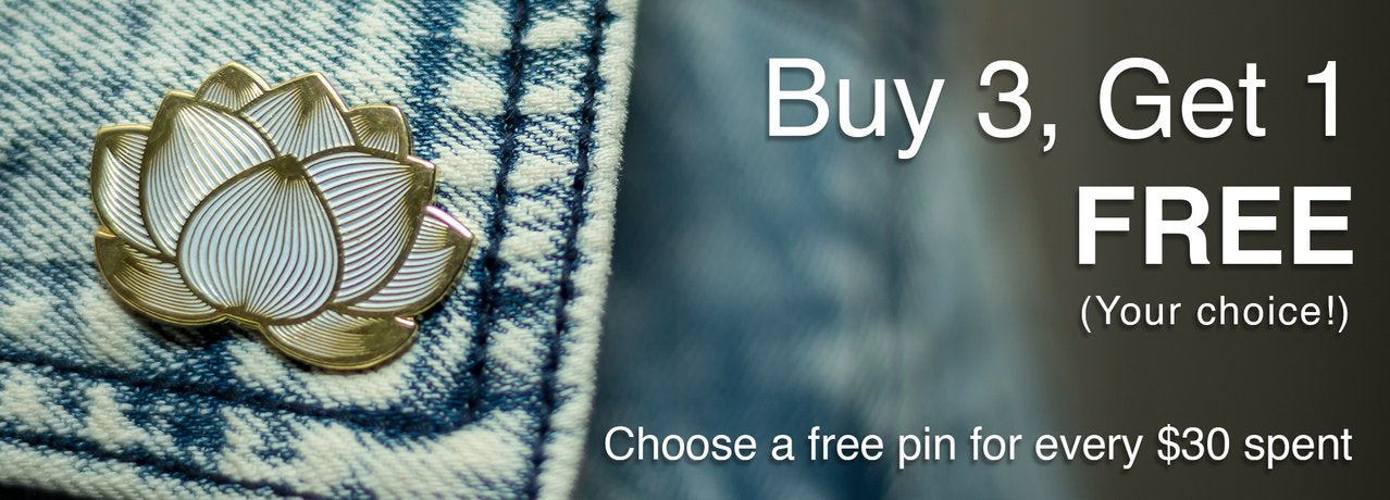 Buy 3 Get 1 Free on all pins