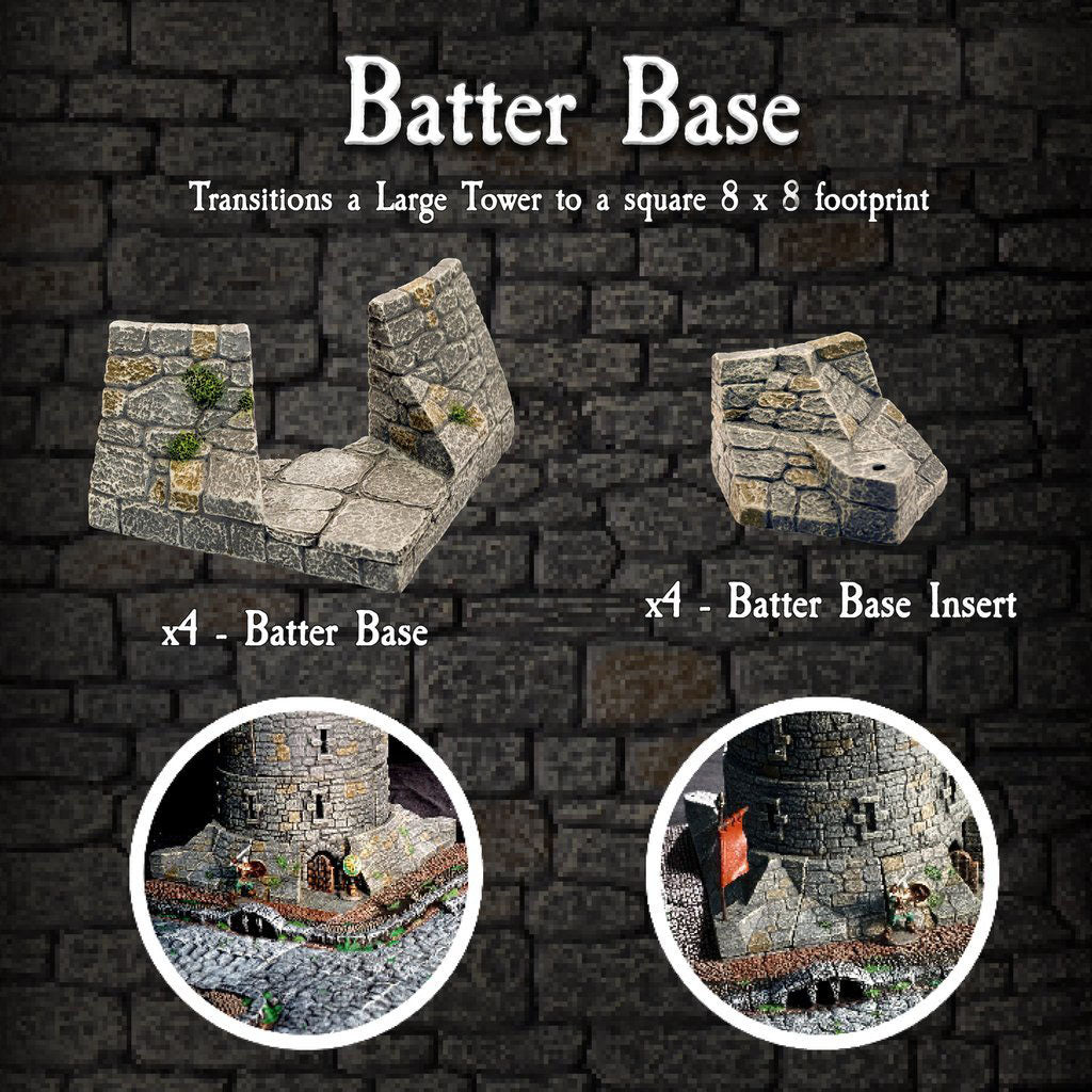 Batter Base Large Tower - Painted