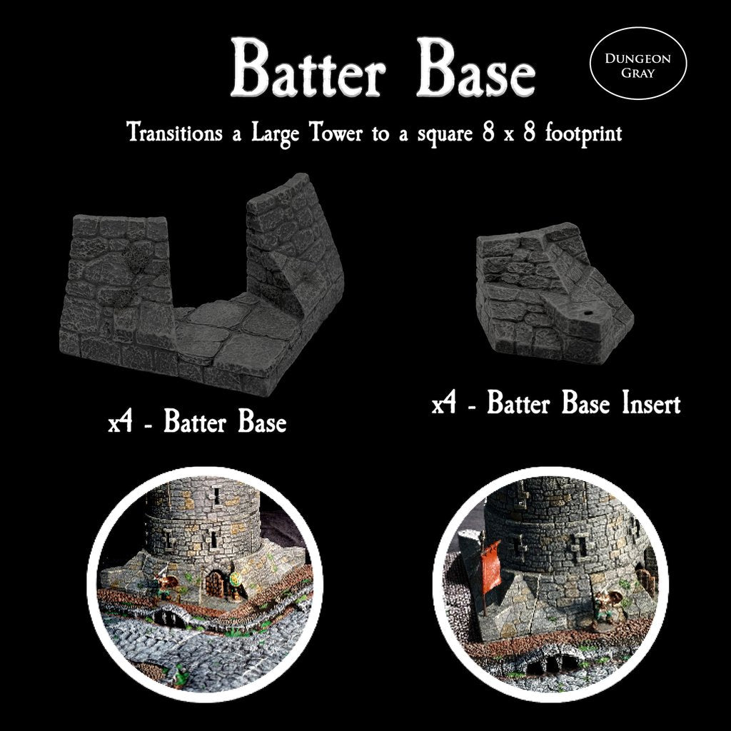 Batter Base Large Tower - Unpainted