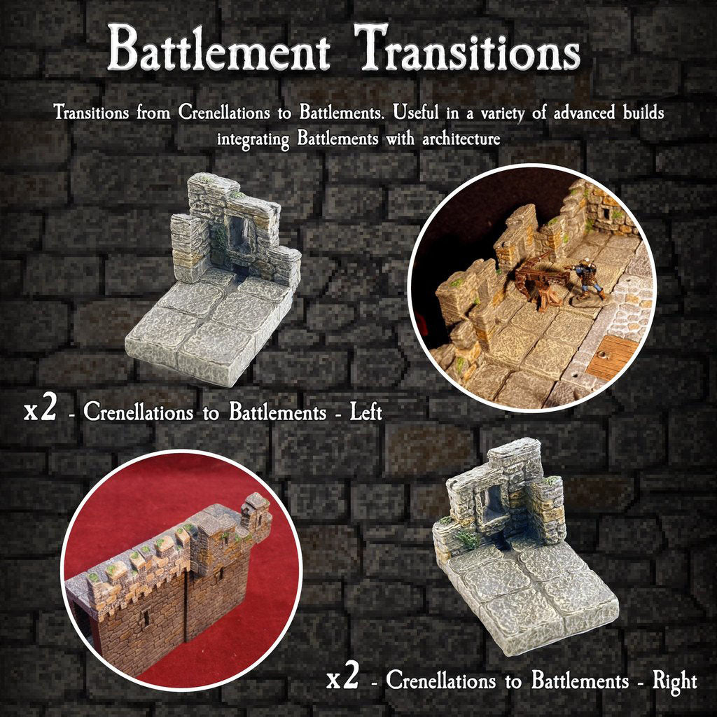 Battlement Transitions - Painted
