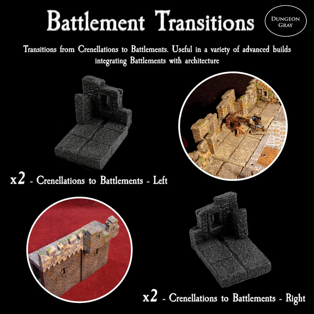 Battlement Transitions - Unpainted