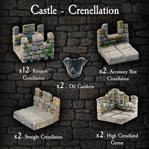Castle Crenellation Pack - Painted