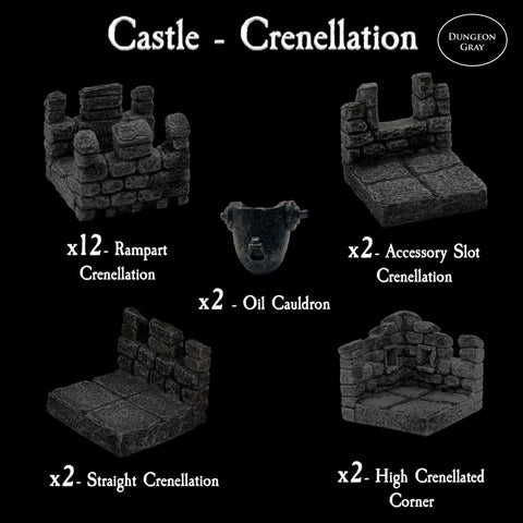 Castle Crenellation Pack - Unpainted