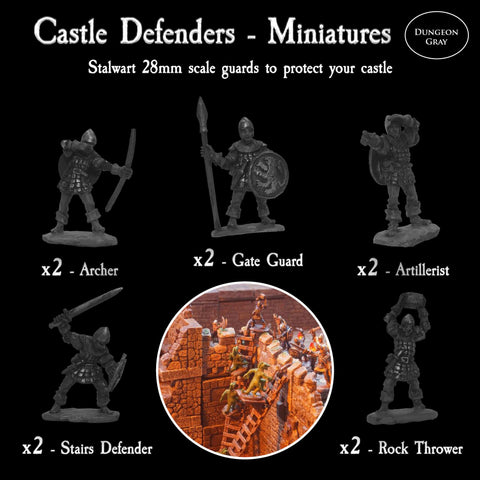 Castle Defenders - Unpainted