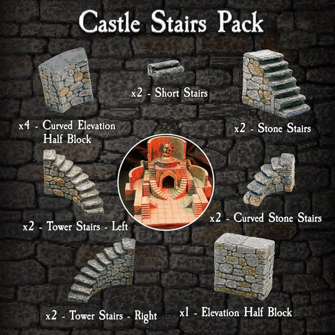 Castle Stairs Pack - Painted