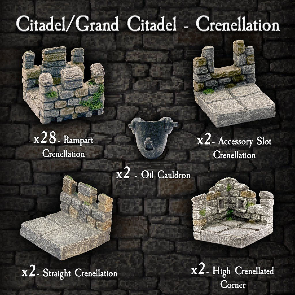 Citadel / Grand Citadel Crenellation Pack - Painted