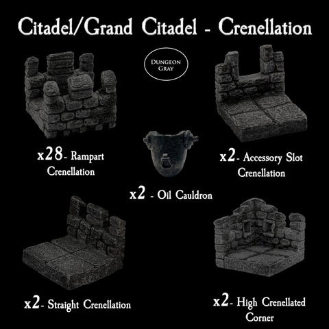 Citadel / Grand Citadel Crenellation Pack - Unpainted