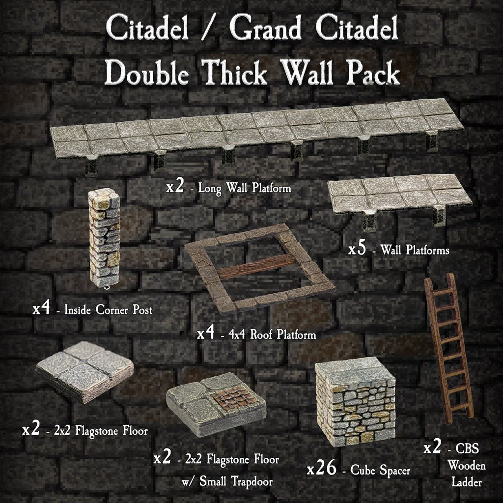 Citadel / Grand Citadel Double Thick Wall Pack - Painted