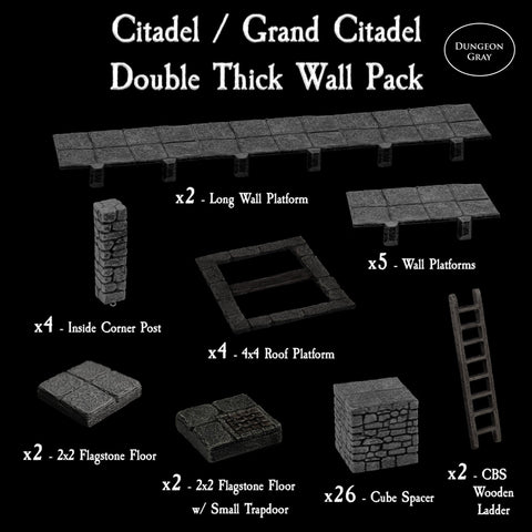 Citadel / Grand Citadel Double Thick Wall Pack - Unpainted