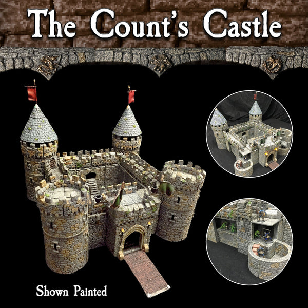 Count's Castle Set - Painted