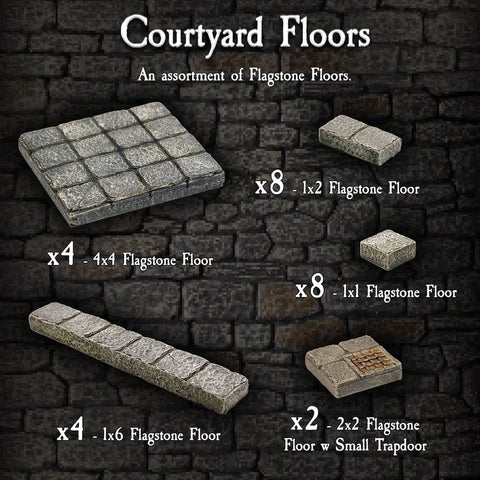 Courtyard Floors - Painted