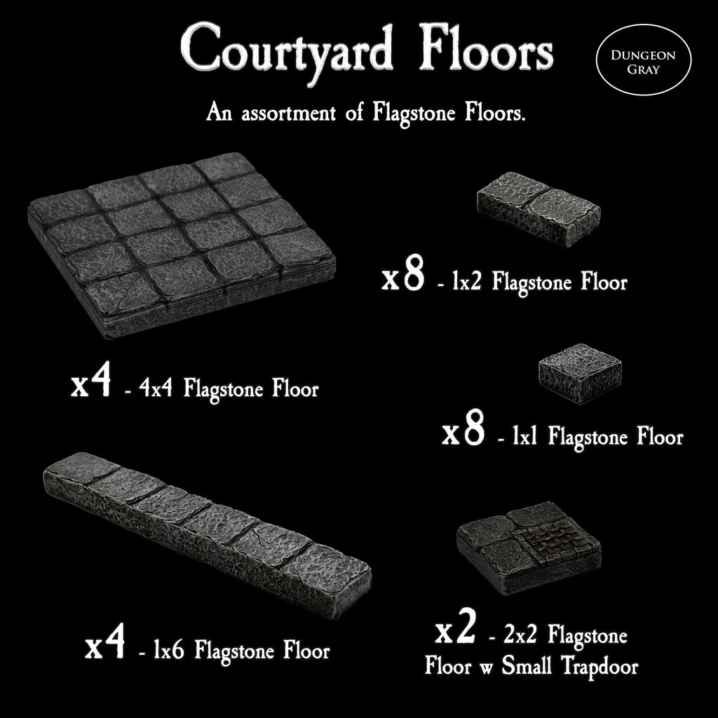 Courtyard Floors - Unpainted