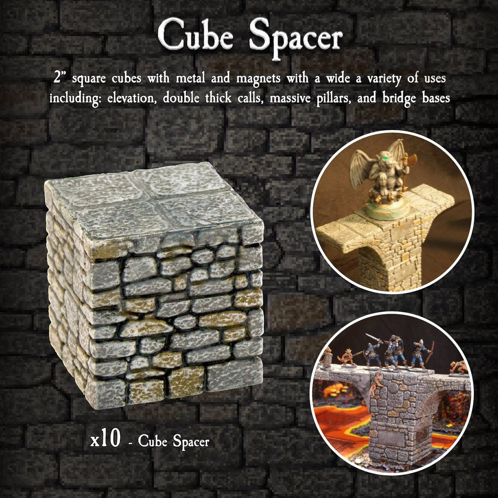 Cube Spacer Pack - Painted