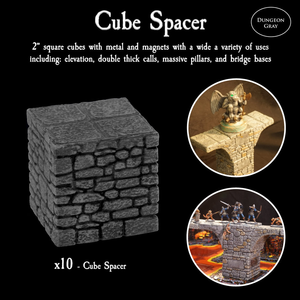Cube Spacer Pack - Unpainted
