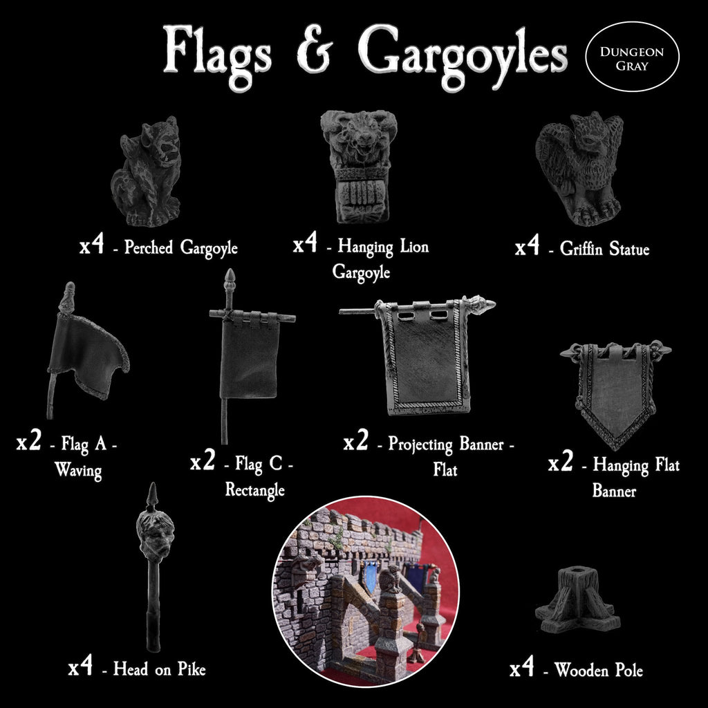 Flags and Gargoyles - Unpainted