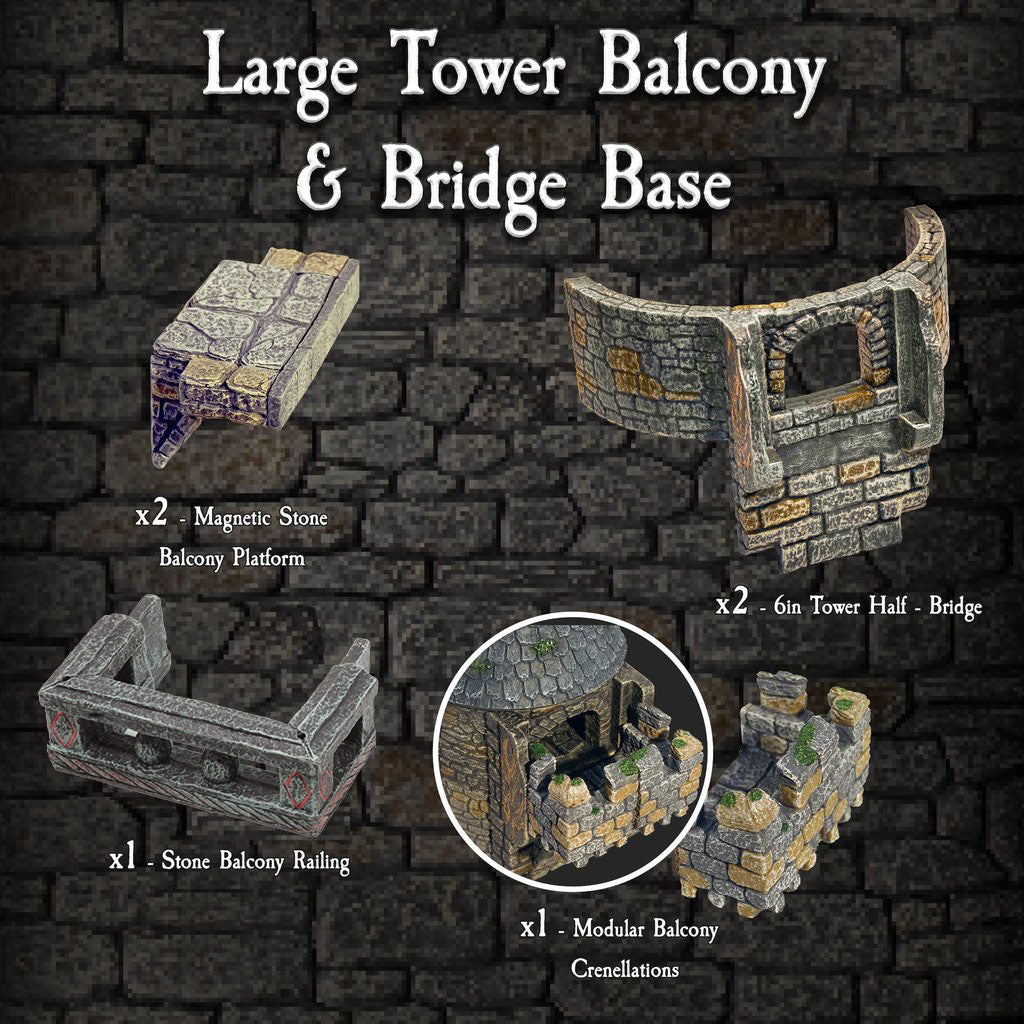 Large Tower Balcony & Bridge Base - Painted