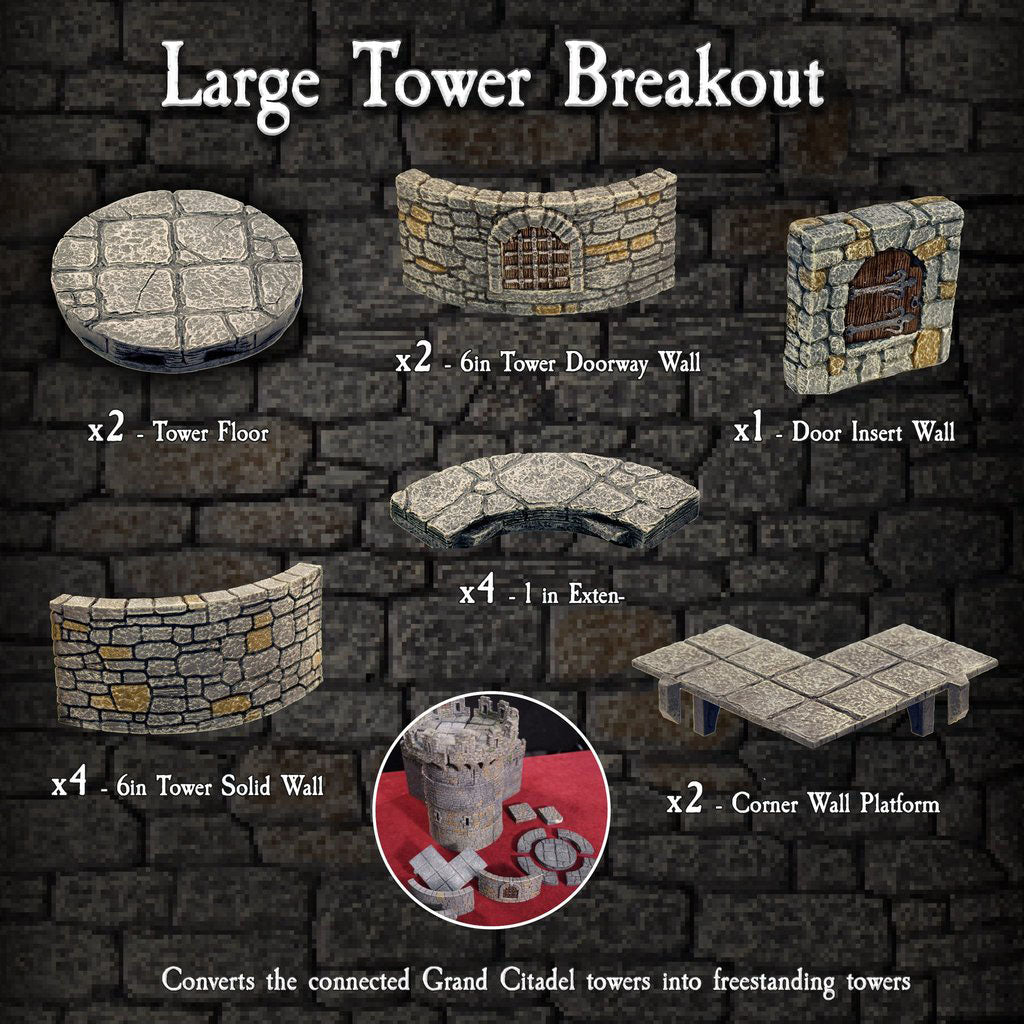 Large Tower Breakout - Painted