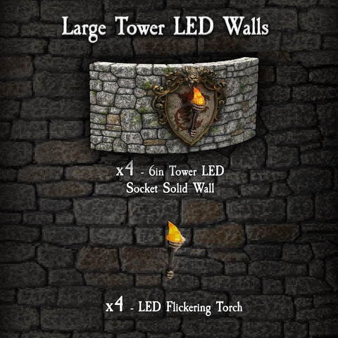 Large Tower LED Walls - Painted
