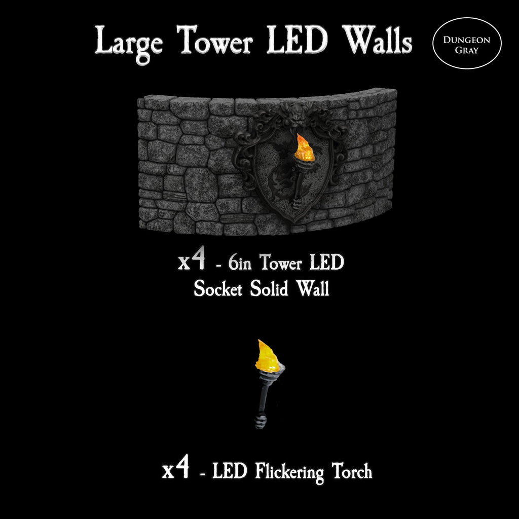 Large Tower LED Walls - Unpainted