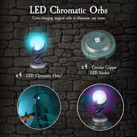 LED Chromatic Orbs - Painted