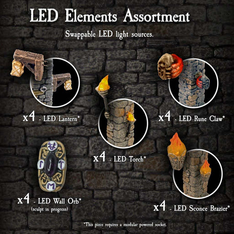LED Elements Assortment - Painted