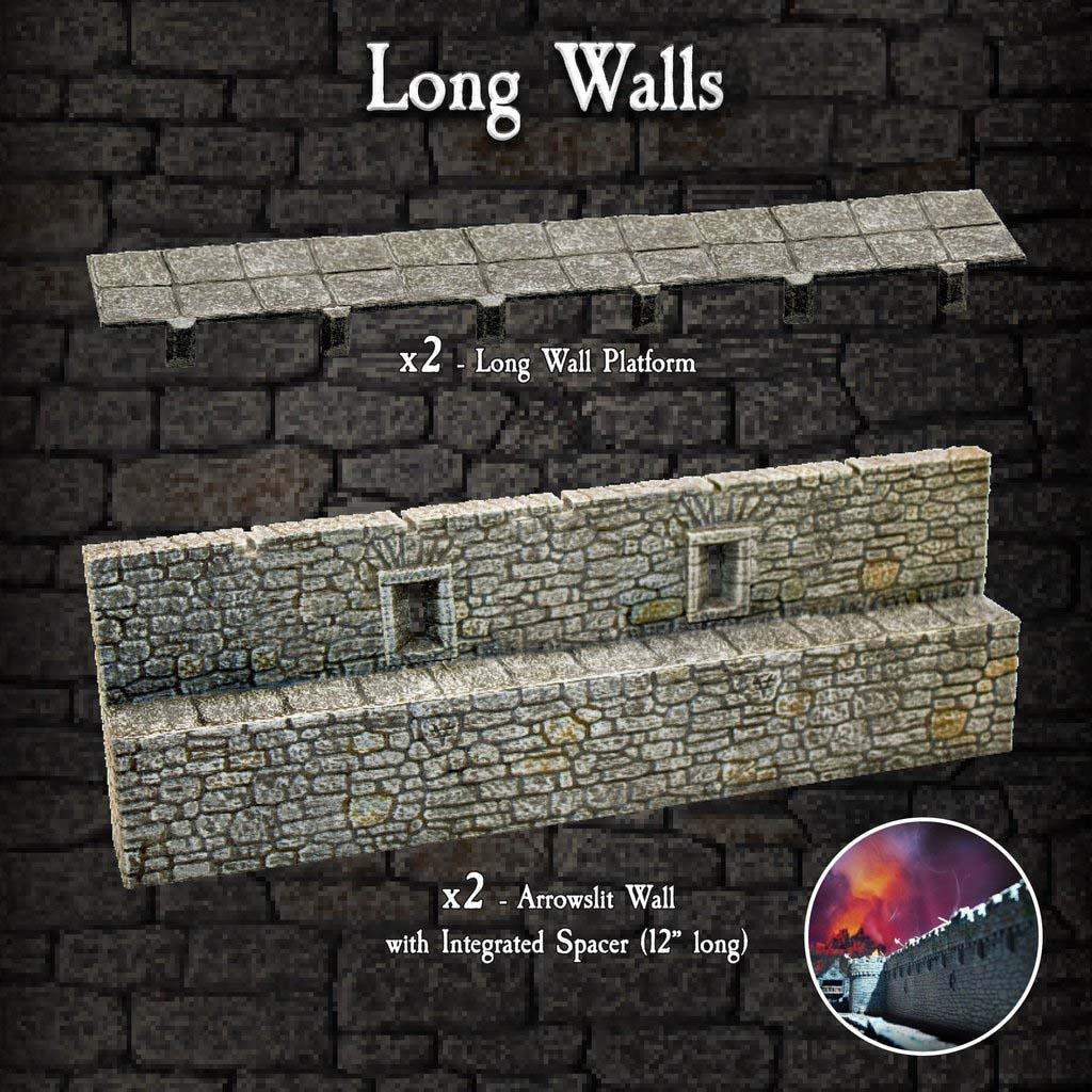 Long Walls Pack - Painted