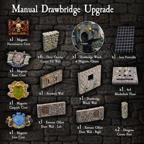 Manual Drawbridge Upgrade - Painted