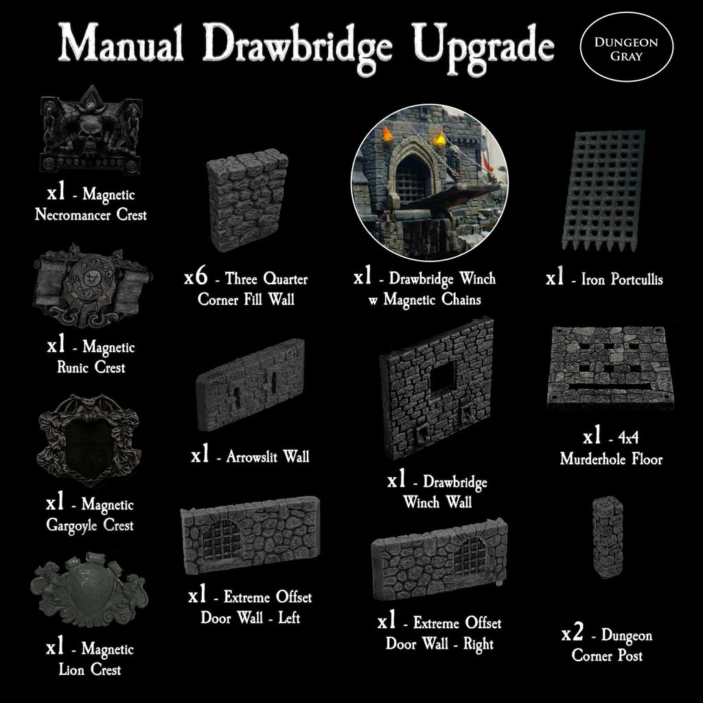 Manual Drawbridge Upgrade - Unpainted