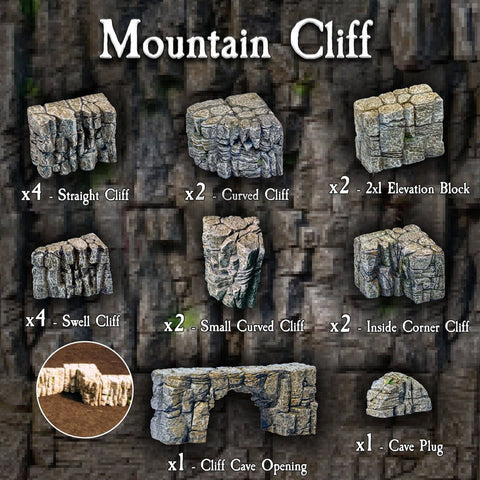 Mountain Cliff Pack - Painted