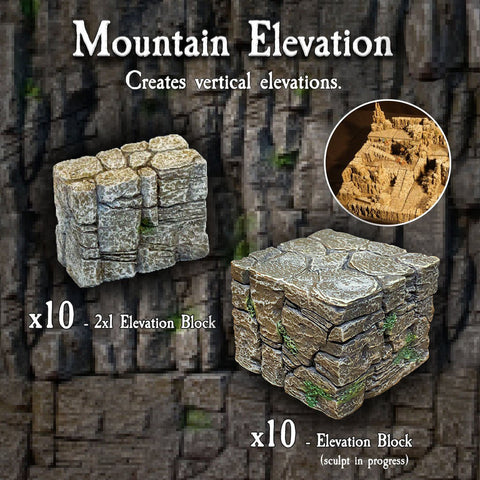 Mountain Elevation Pack - Painted