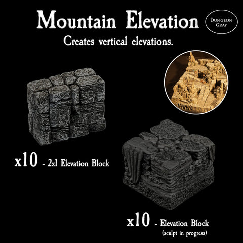 Mountain Elevation Pack - Unpainted