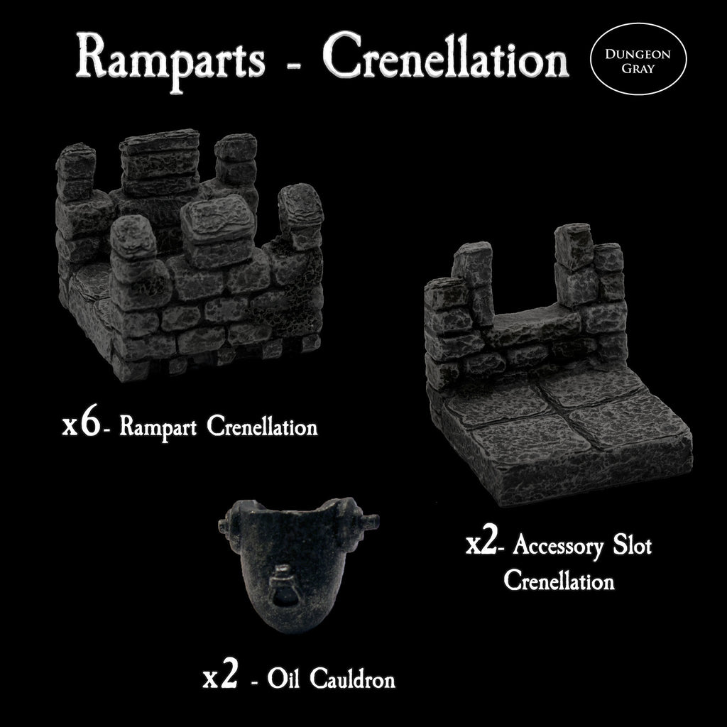 Ramparts Crenellation Pack - Unpainted