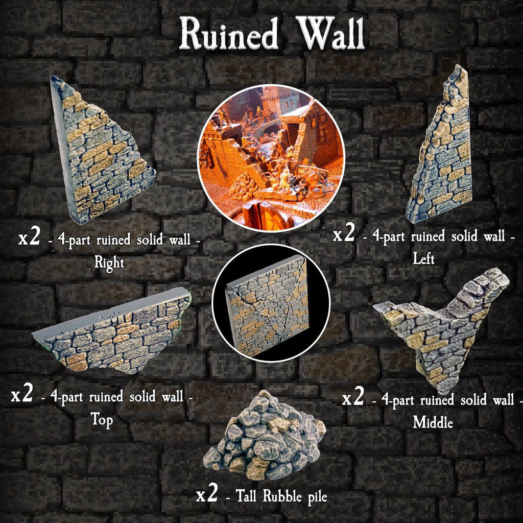 Ruined Wall - Painted