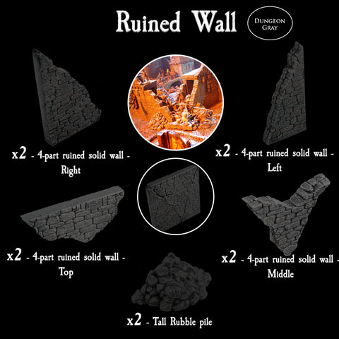 Ruined Wall - Unpainted