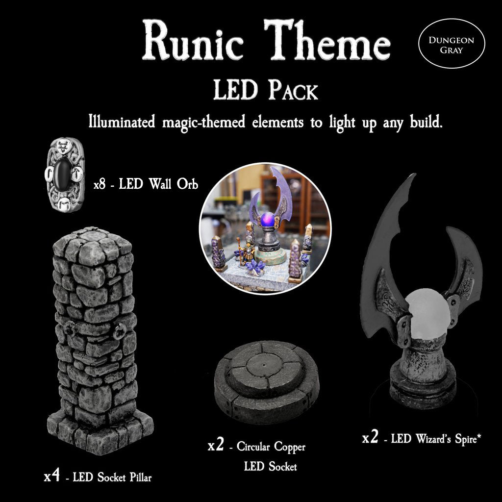 Runic Theme LED Pack - Unpainted