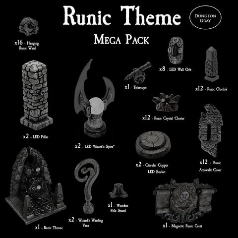 Runic Theme Mega Pack - Unpainted