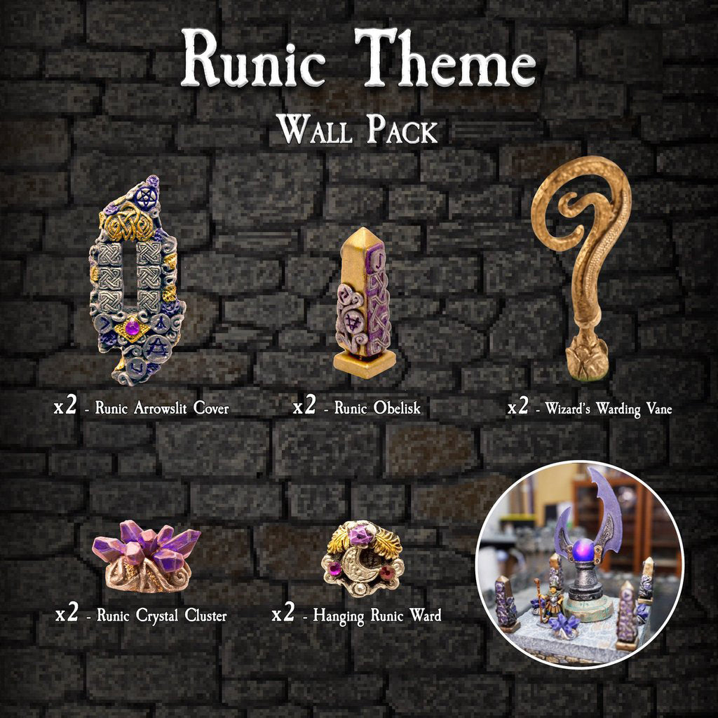 Runic Theme Wall Pack - Painted