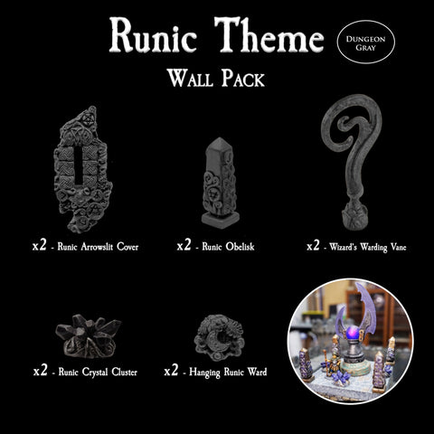 Runic Theme Wall Pack - Unpainted