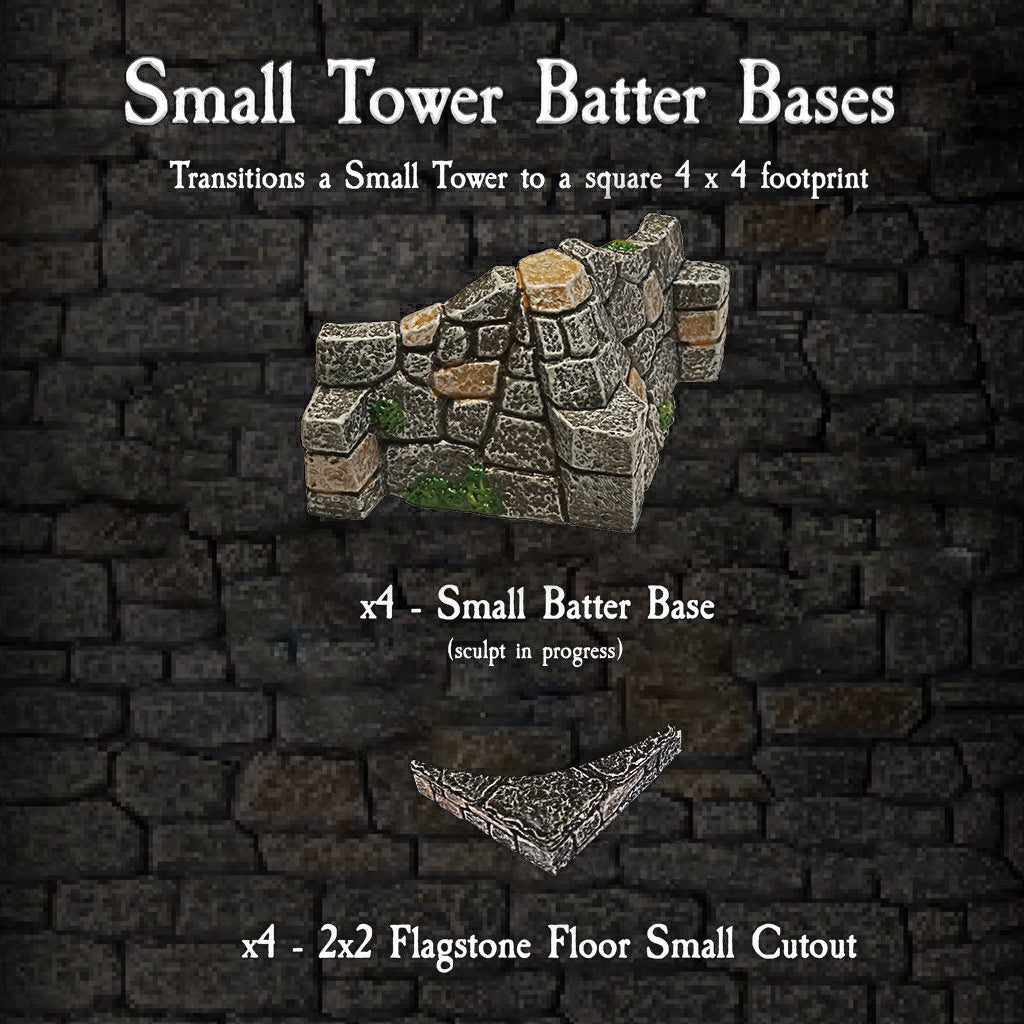 Small Tower Batter Base - Painted