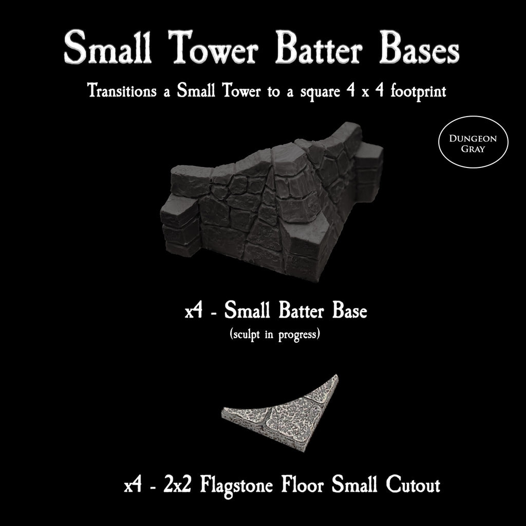 Small Tower Batter Base - Unpainted