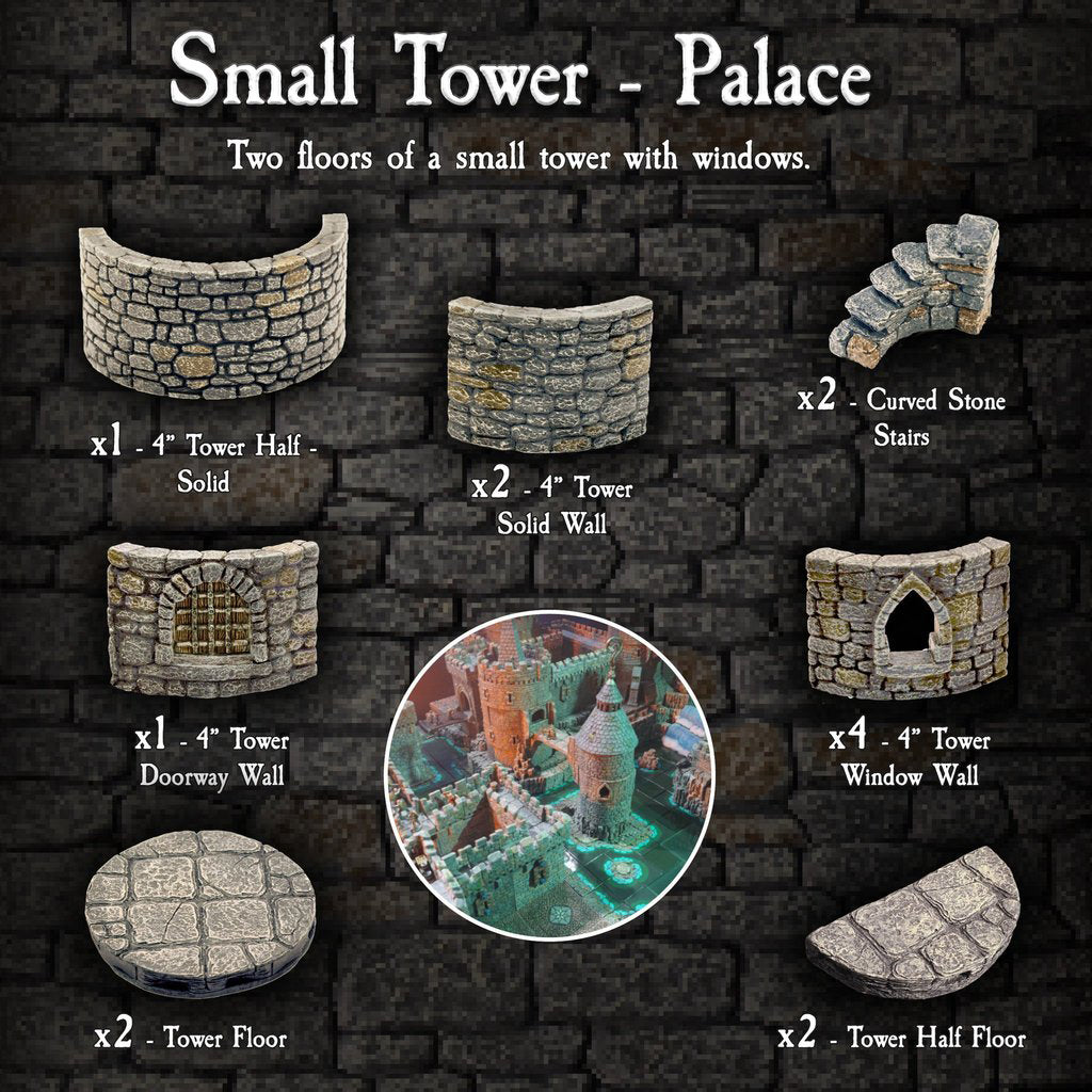 Small Tower Palace - Painted