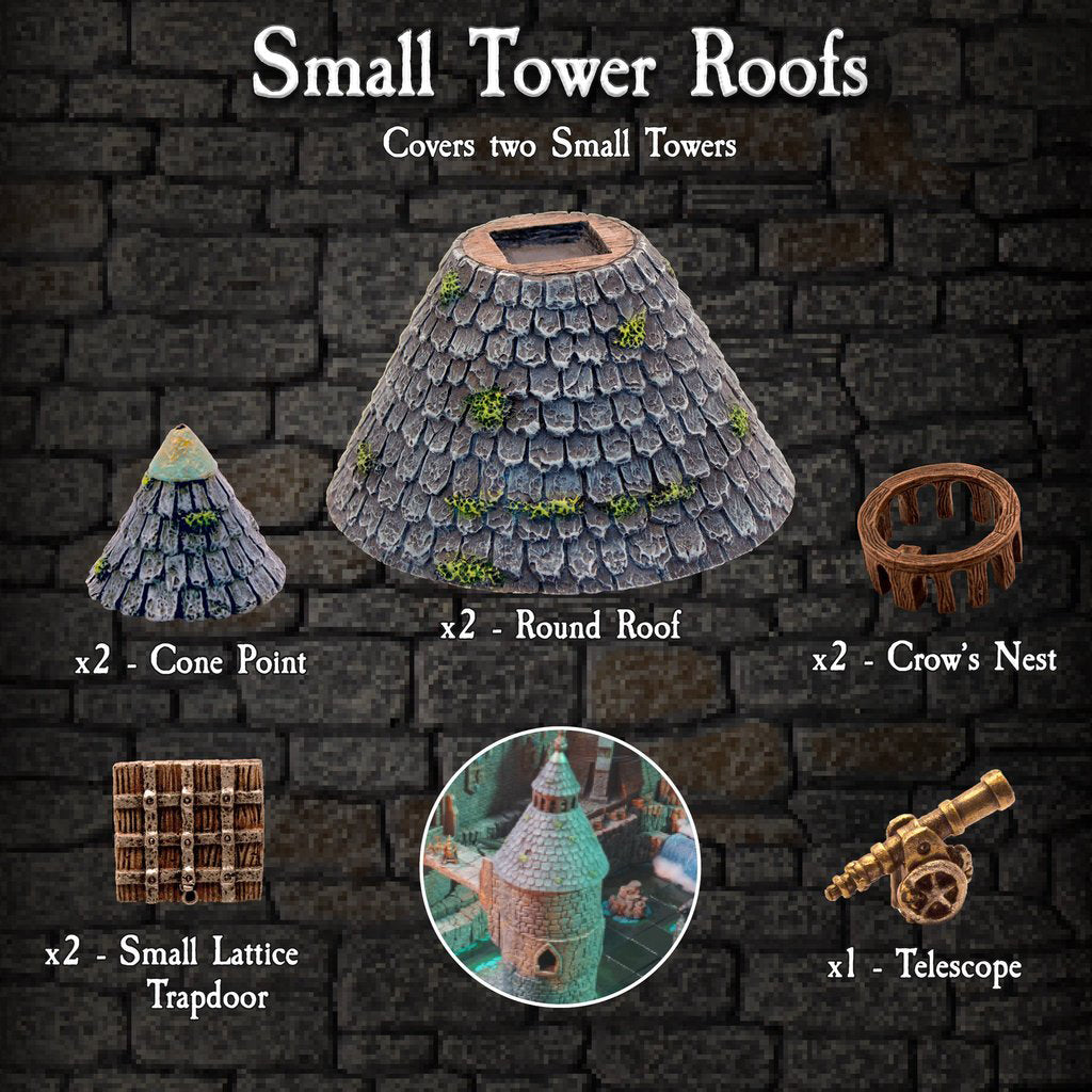 Small Tower Roofs Pack - Painted