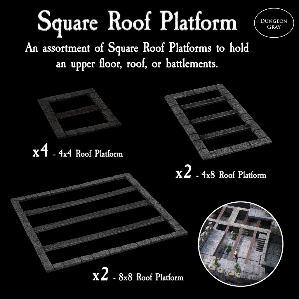Square Roof Platform Pack - Unpainted