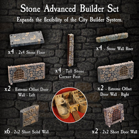Stone Advanced Builder Set - Painted