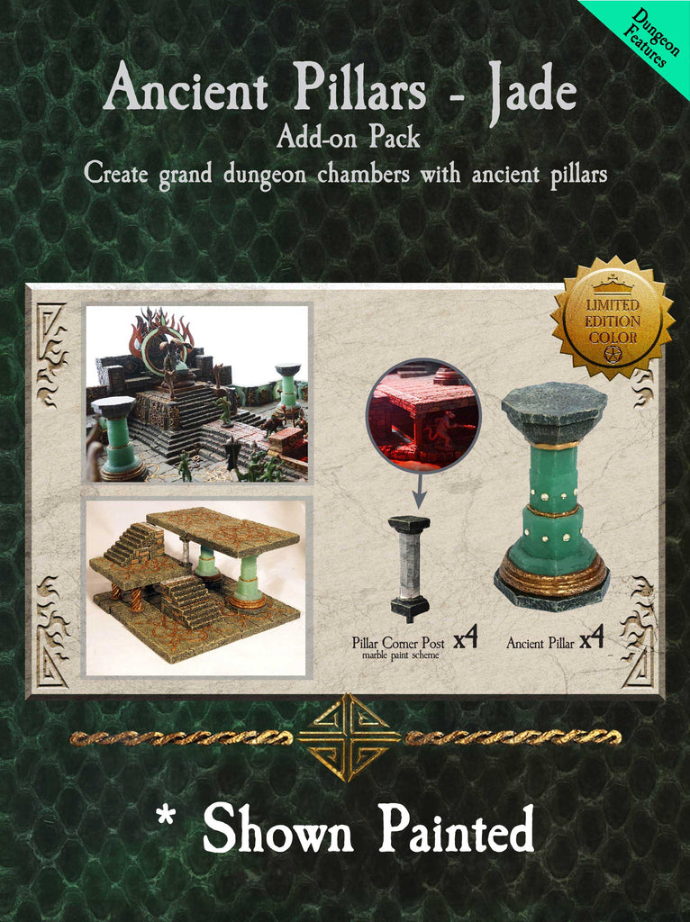 Ancient Pillars - Jade Limited Edition - Unpainted