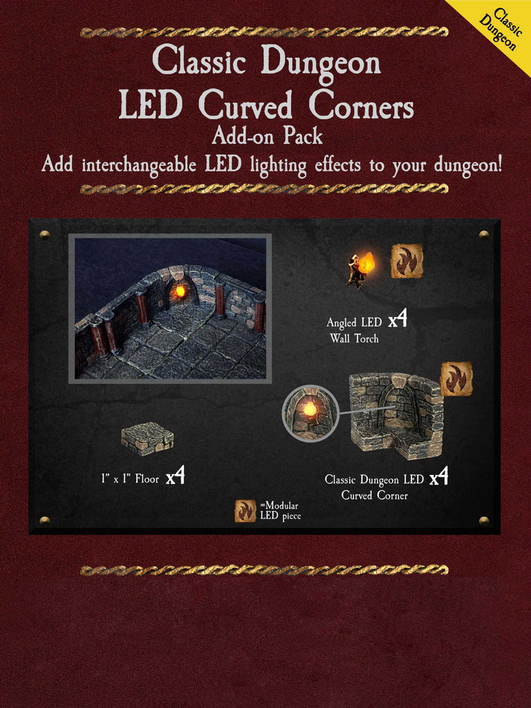 Classic Dungeon LED Curved Corners - Painted