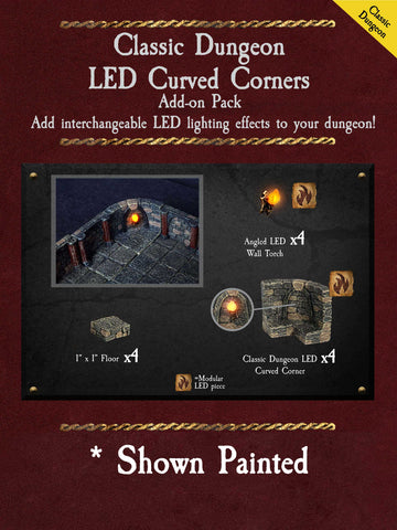Classic Dungeon LED Curved Corners - Unpainted